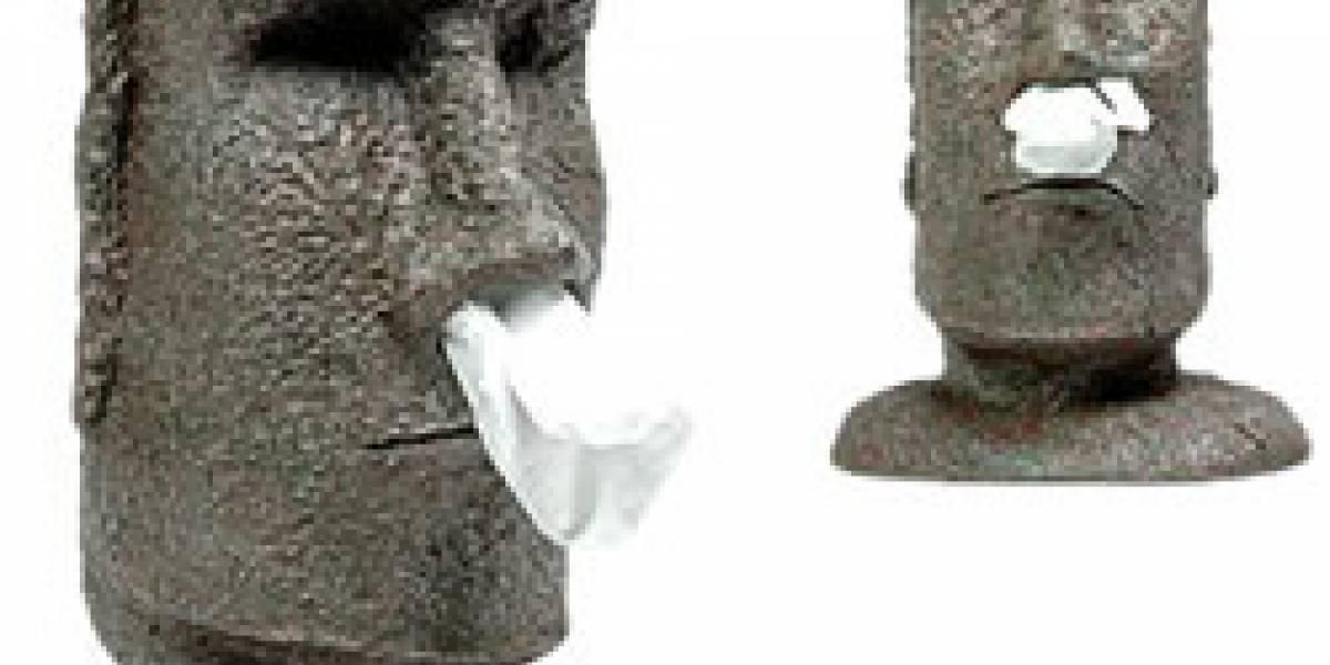 Impresentable: Dispensador de pañuelos con forma de Moai