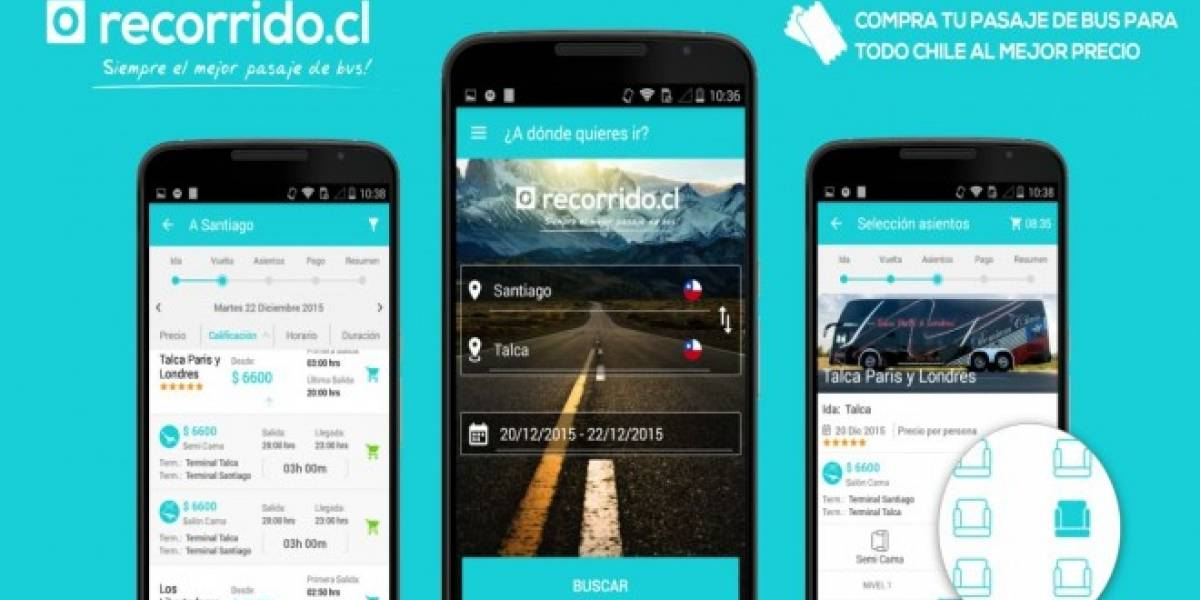 Recorrido.cl lanza su aplicación para móviles