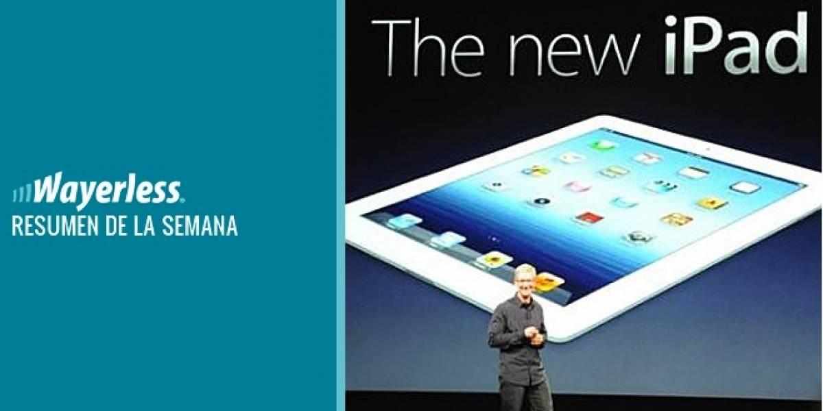 La presentación del Nuevo iPad, el lanzamiento de Google Play y mucho más