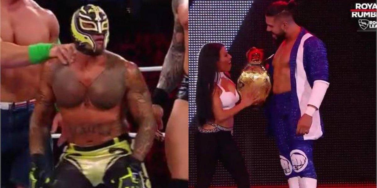 A Rey Mysterio y Andrade Cien Almas les duró poco el gusto en Royal Rumble