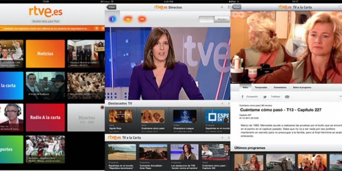 España: RTVE.es estrena su aplicación para iPad