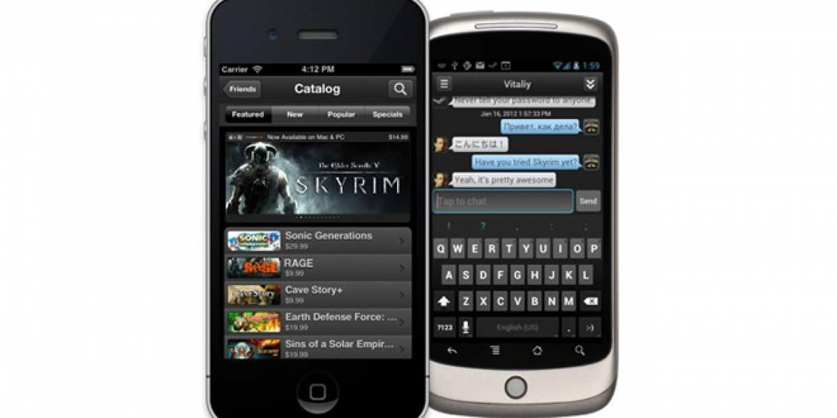 Valve ya tiene aplicación para iOS y Android de Steam