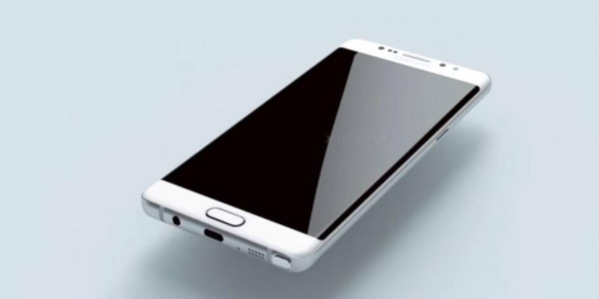 Este render muestra al Samsung Galaxy Note 6 basado en sus planos
