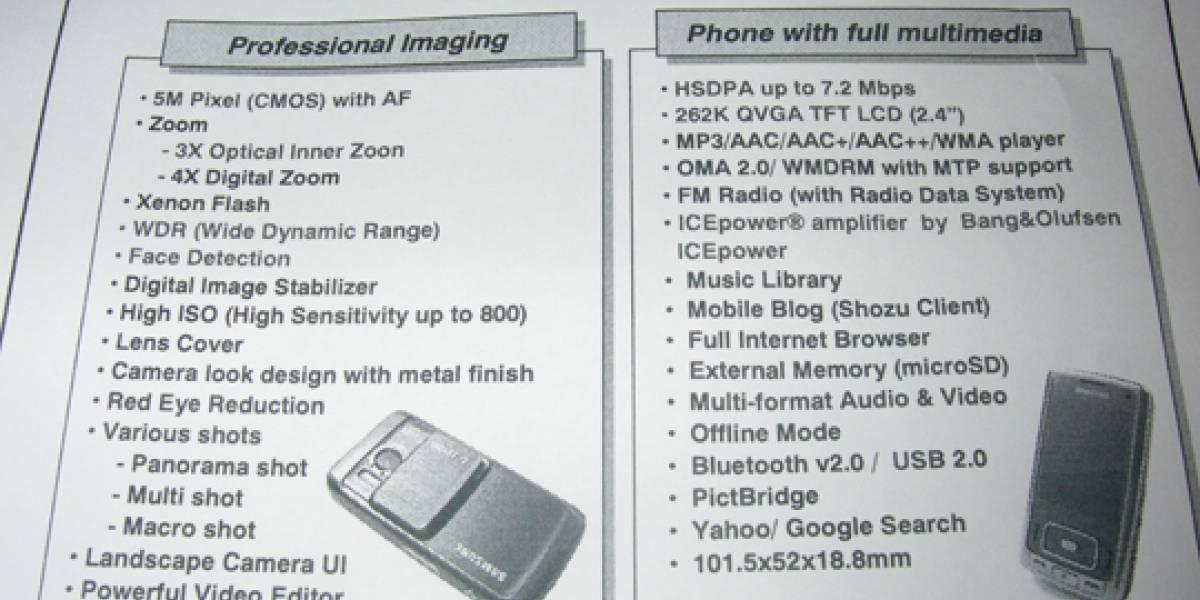 Samsung G800: Slider y 5 megapixeles, todo en uno