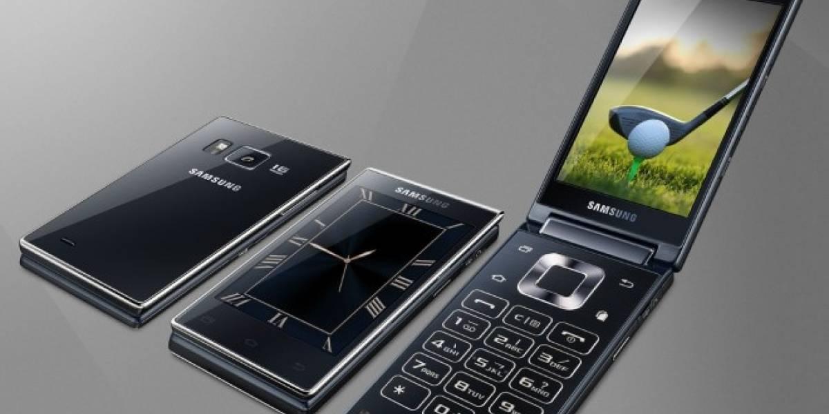 Samsung G918 es un móvil tipo almeja con doble pantalla y chip Snapdragon 808