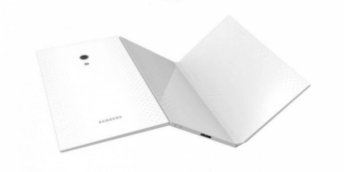 Patente muestra un prototipo de tablet Samsung plegable