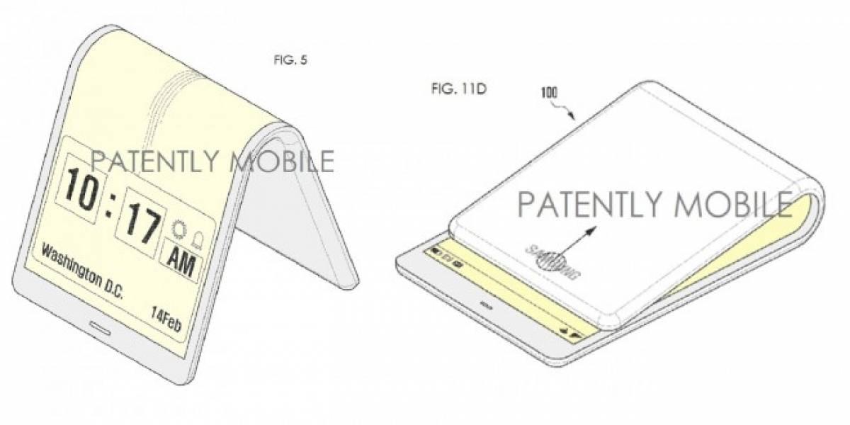 Samsung patenta un teléfono inteligente con pantalla plegable