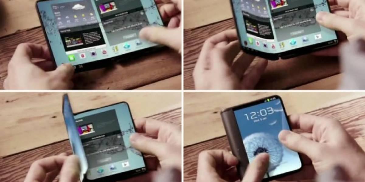 Samsung podría lanzar un smartphone plegable de pantalla flexible el próximo año