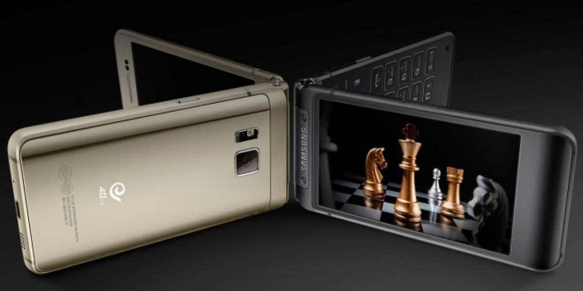 Samsung W2016 es un smartphone gama alta de tipo almeja