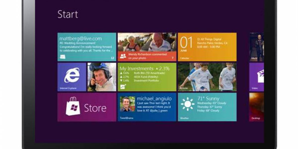 Microsoft define estándar mínimo para tablets con Windows 8