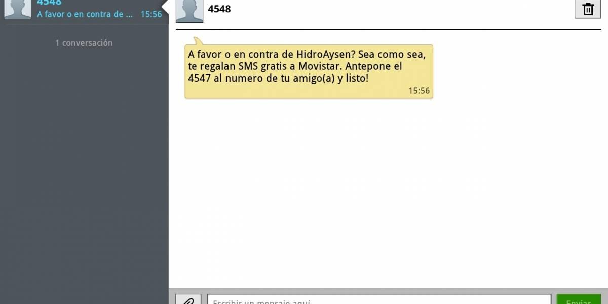 Chile: ¿Recibiste este mensaje? Hidroaysén dice que no es responsable -- pero lo es
