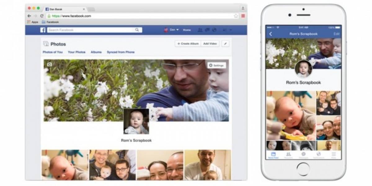 Facebook presenta Scrapbook, una nueva forma de organizar las fotos de bebés y niños