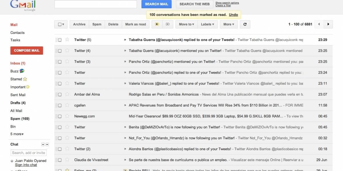 Gmail estrena nuevo diseño más espaciado y limpio
