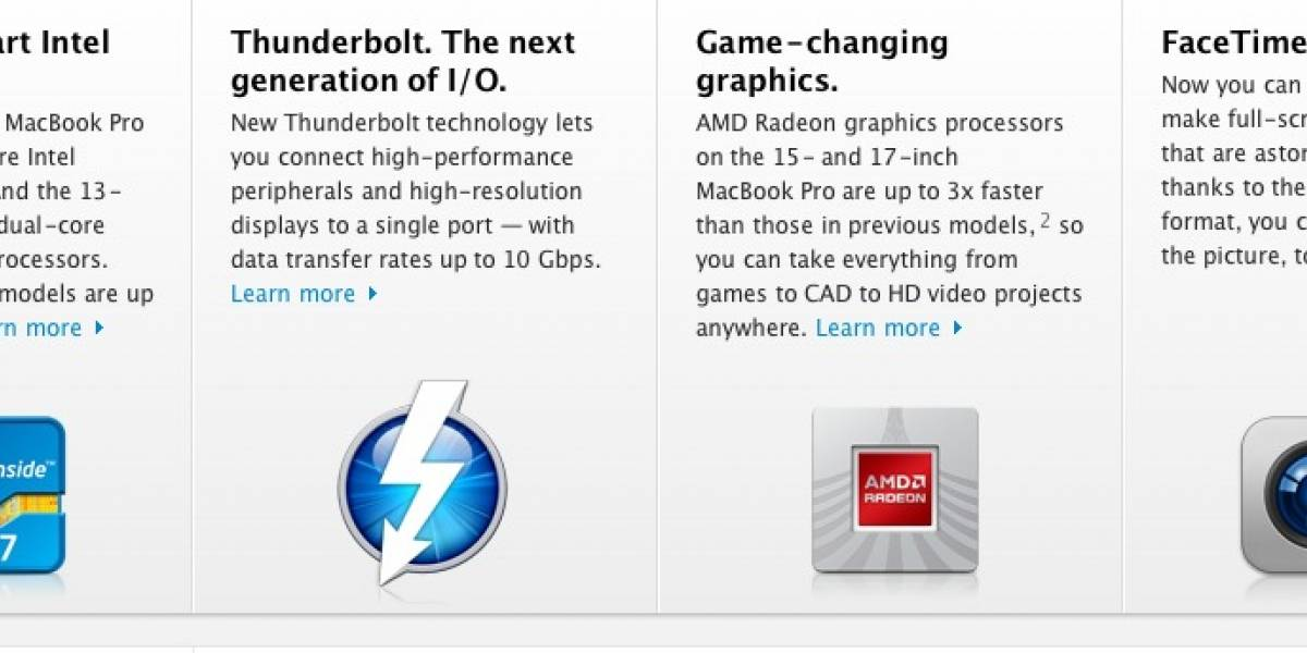 Salen del horno los renovados MacBook Pro con Core i5/i7 y Thunderbolt
