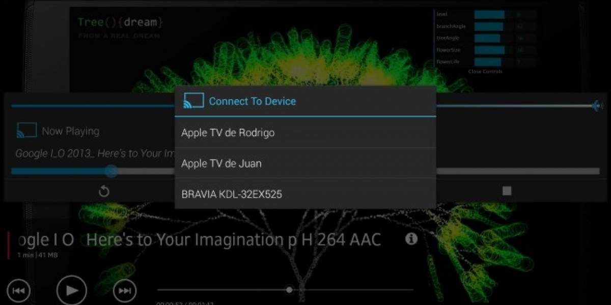 Transmite videos desde tu Android a dispositivos DLNA y Apple TV con AllCast