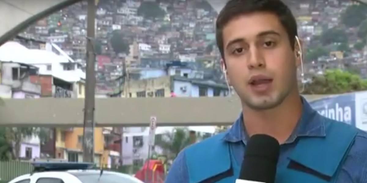 Gato de óculos escuros em moto rouba a cena de reportagem ao vivo