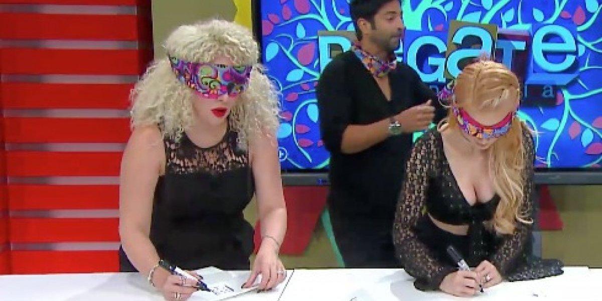 """""""Burbu"""" y Natalia pasan tremendo susto en vivo"""