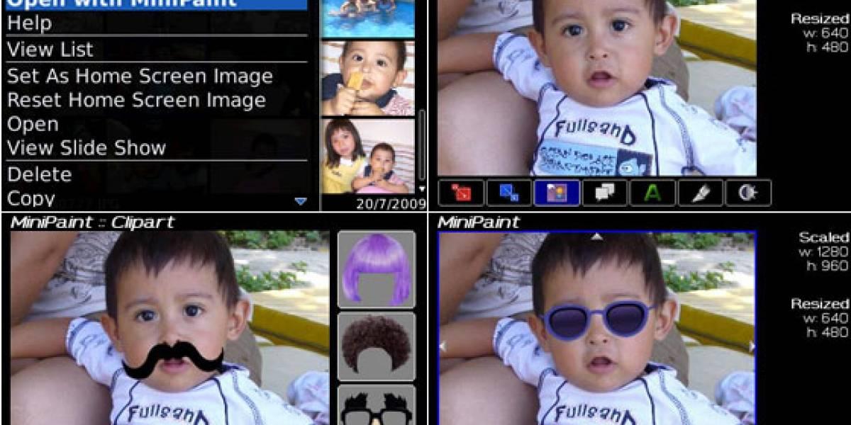 MiniPaint, una app de BlackBerry que ya ha sido descargada más de 68 mil veces