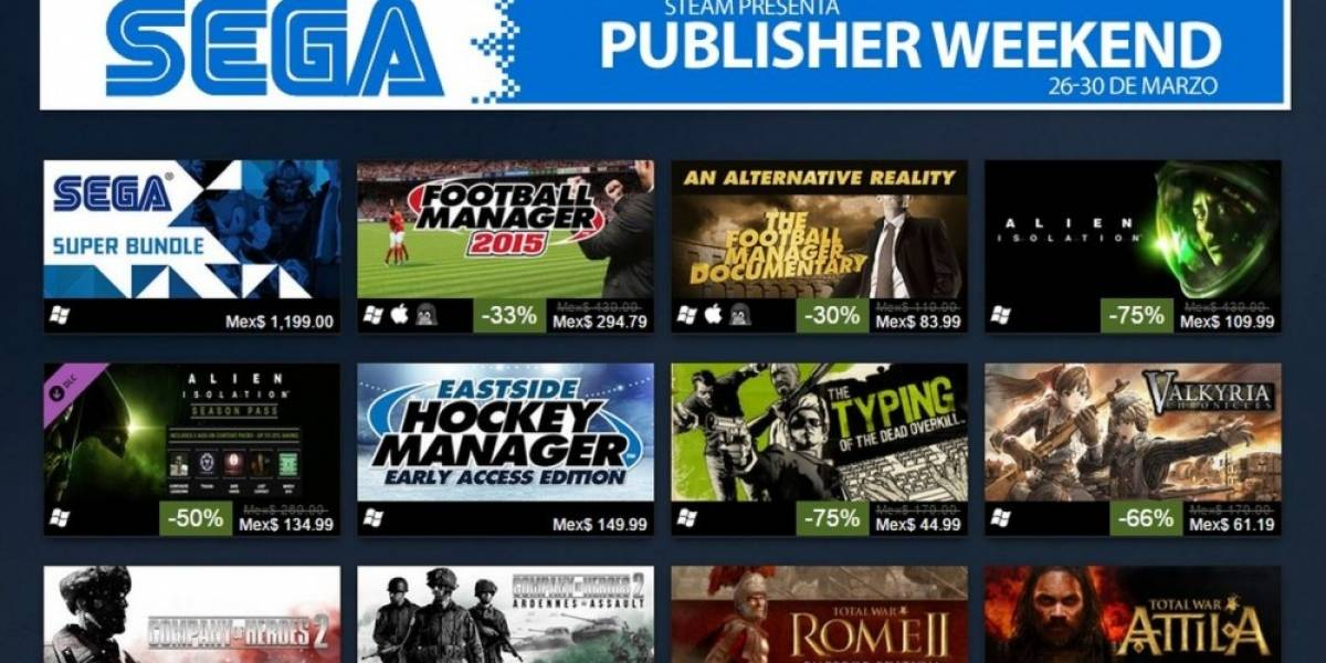 Steam presenta fin de semana de ofertas de Sega