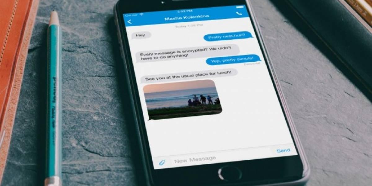 Signal es la app de mensajería que permite encriptar toda conversación