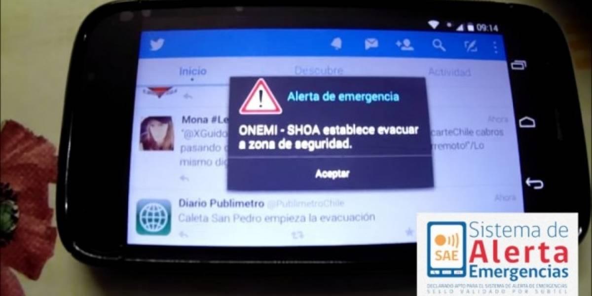 Alertas de Emergencia vuelven a operar en Chile por el terremoto pero con algunos problemas