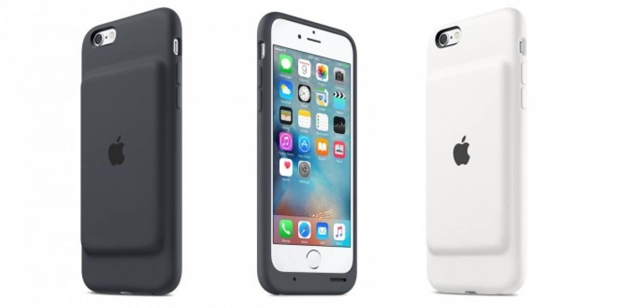 Apple lanza su primera funda con batería para el iPhone 6s