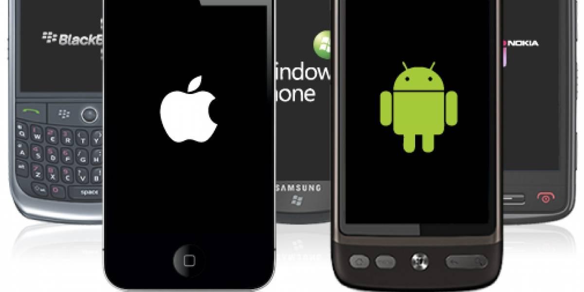 Mercado de smartphones crecería un 50 porciento el 2011