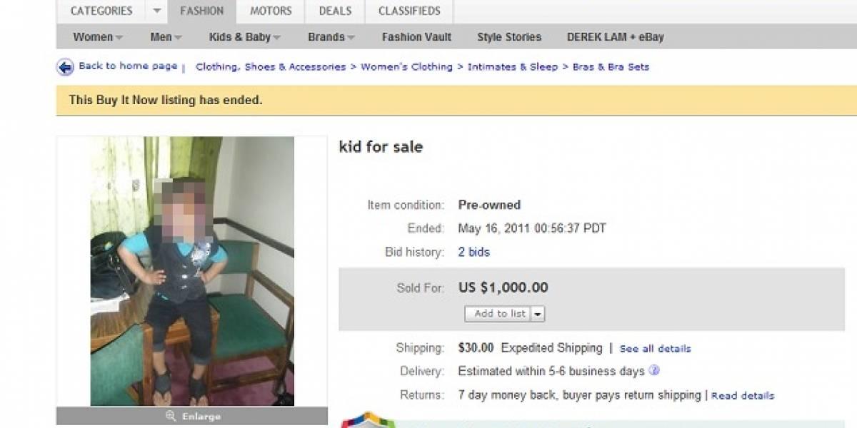 Niña a la venta en eBay