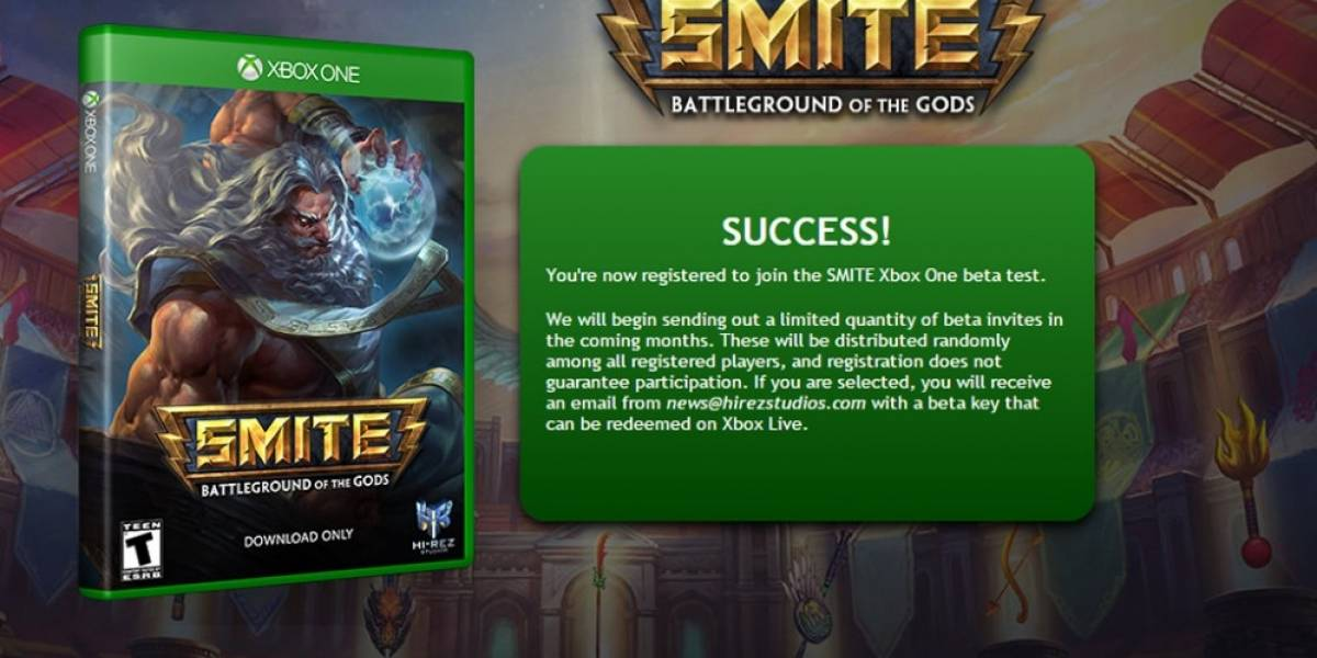 Smite abre registro para su beta en Xbox One