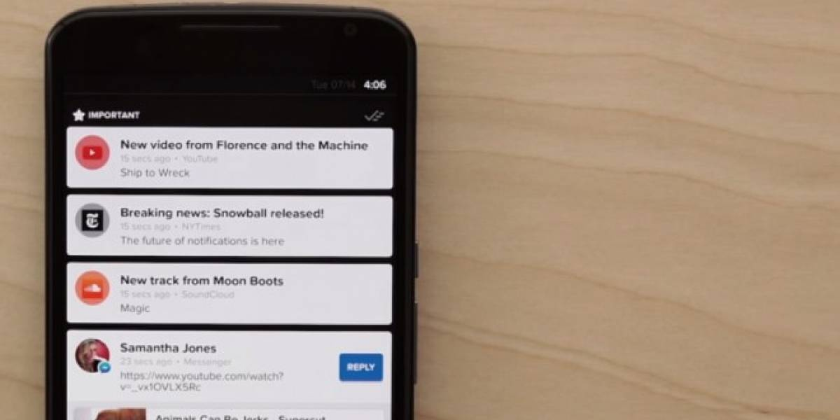 Snowball filtra el exceso de notificaciones en tu Android