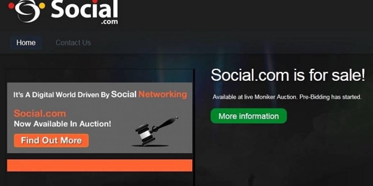 Dominio Social.com se subastará desde los $5 millones de dólares