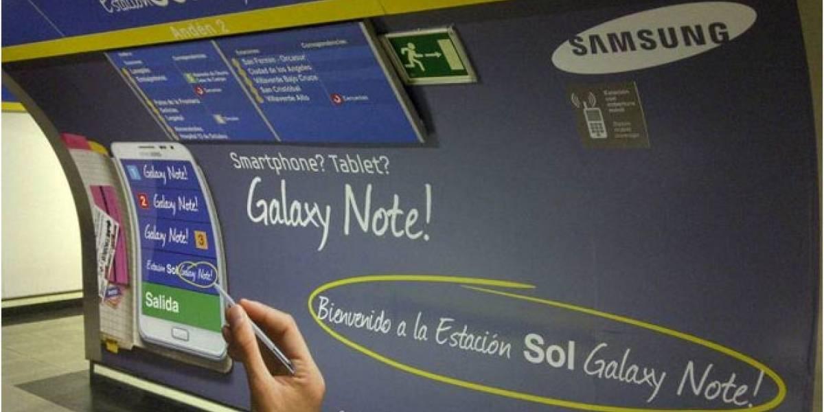 #EstacionesPatrocinadas: Sol Galaxy Note! es la 'nueva' estación del Metro de Madrid