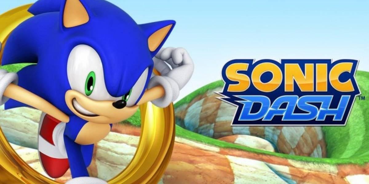 Sonic recibe a los Angry Birds en Sonic Dash