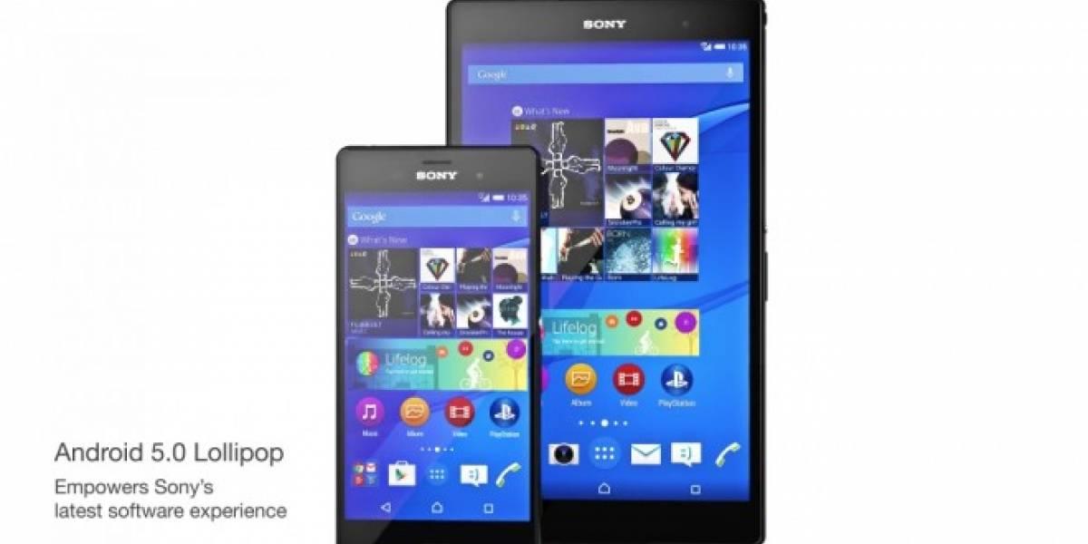 Actualiza a Android Lollipop oficial tu Sony Xperia Z Ultra, Z1, Z1 Compact, Z2, Z3, Z3 Compact, Z3 Dual-SIM, Xperia C3 y T2 Ultra