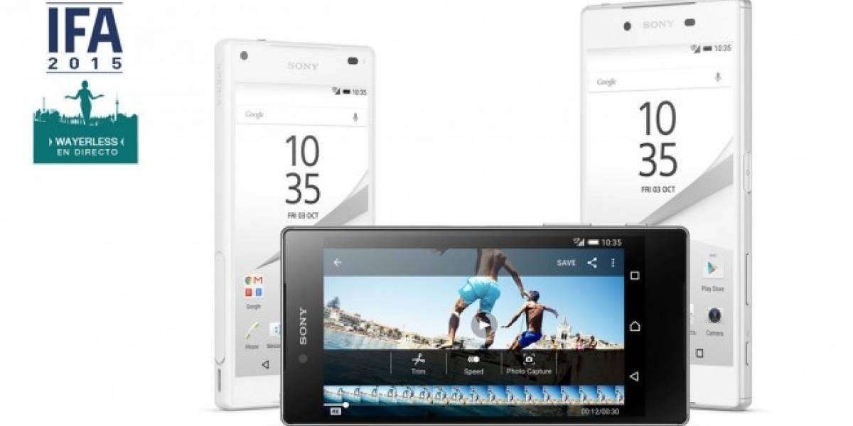 Sony Xperia Z5, Z5 Compact y Z5 Premium hacen su arribo oficial #IFA15