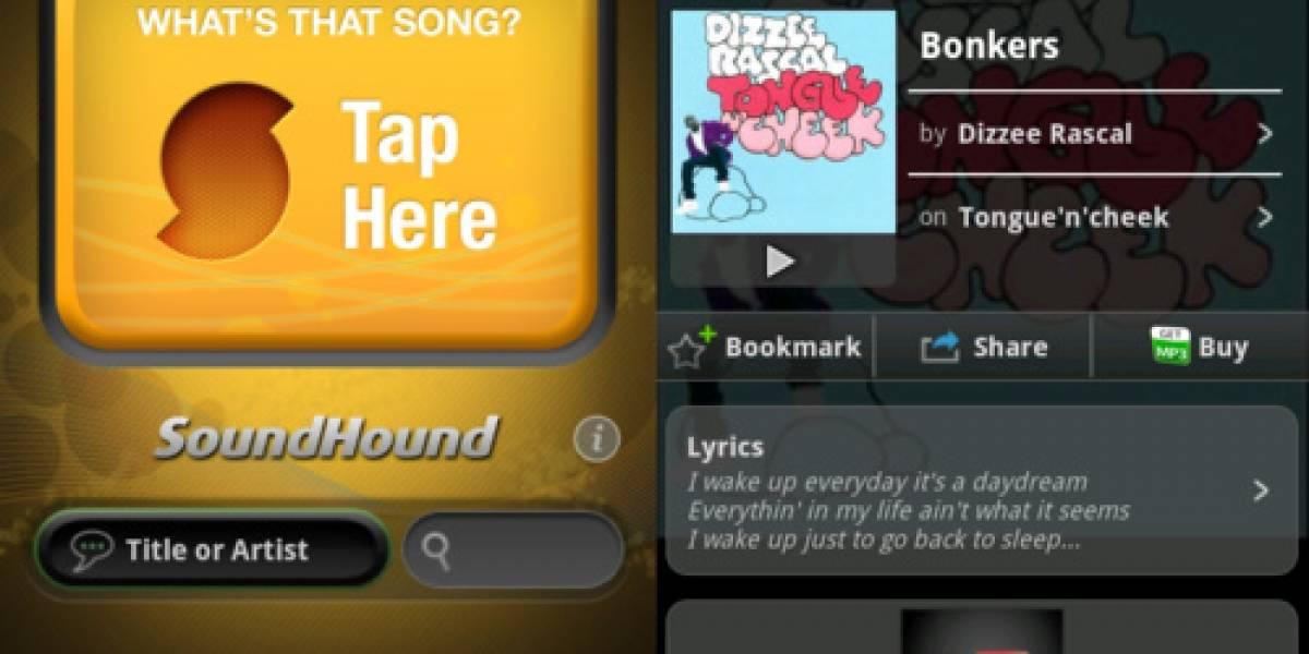 SoundHound para iOS y Android ahora permite etiquetar ilimitadas canciones