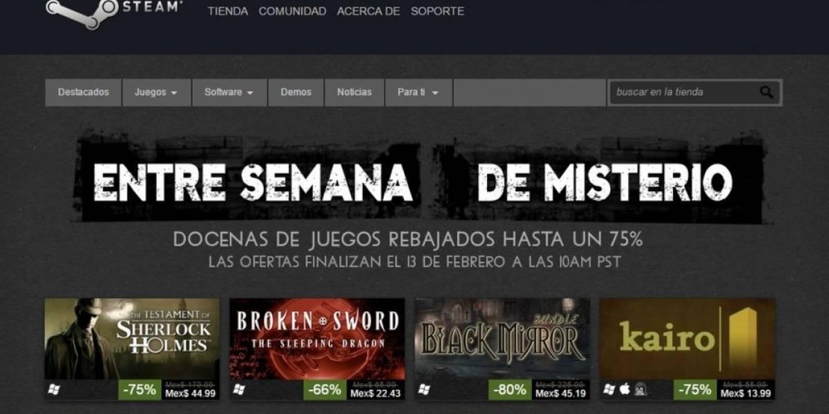 Venta especial de Misterio en Steam