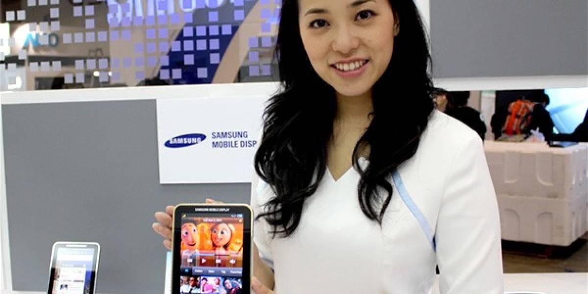 Samsung muestra un Galaxy Tab con pantalla Super AMOLED