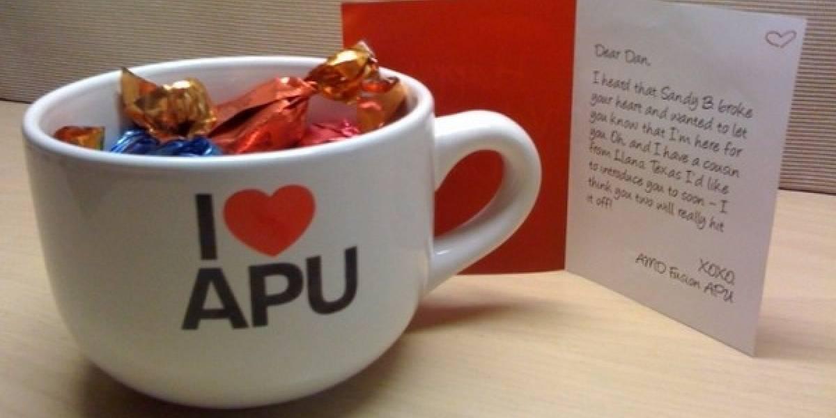El particular saludo de San Valentín que hizo AMD