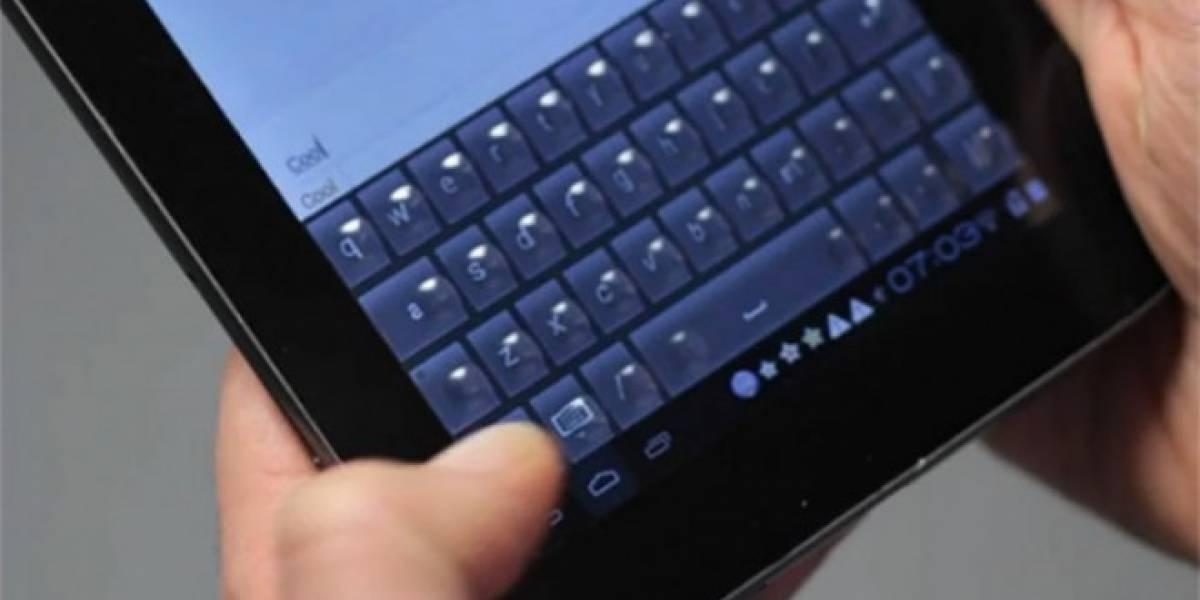 Android M ofrecerá teclado dividido en tablets