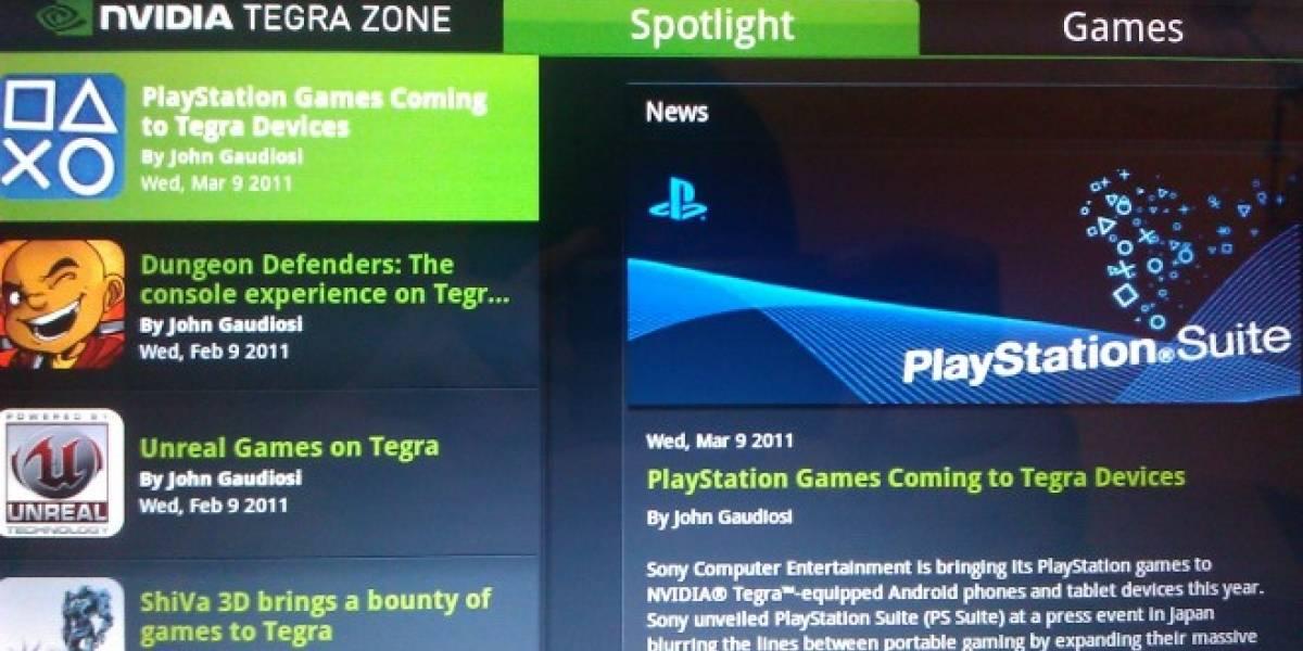 PlayStation Suite en dispositivos con Tegra 2