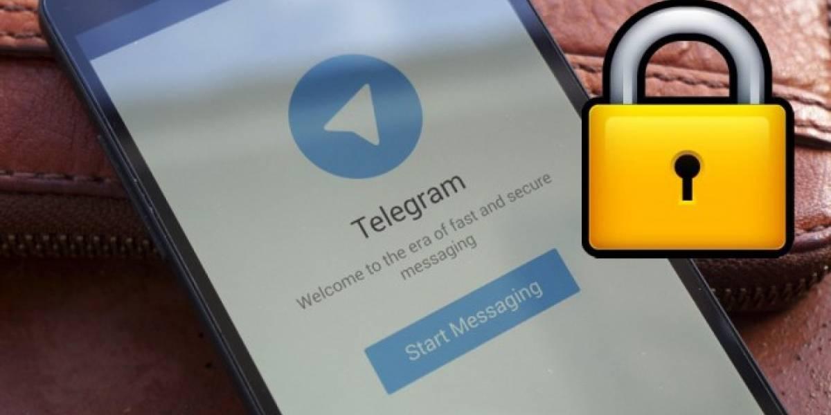 Telegram se actualiza con opción para bloquear el acceso a la aplicación