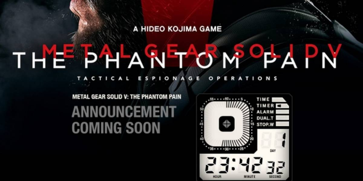 Se viene anuncio sobre Metal Gear Solid V: The Phantom Pain