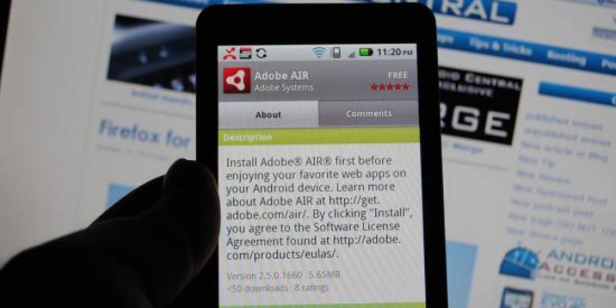 Adobe Air disponible para descarga en Android Froyo