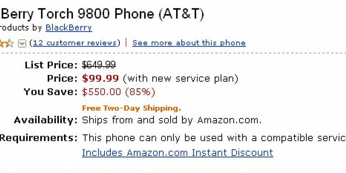 BlackBerry Torch fue súper rebajada a US$100 en Amazon