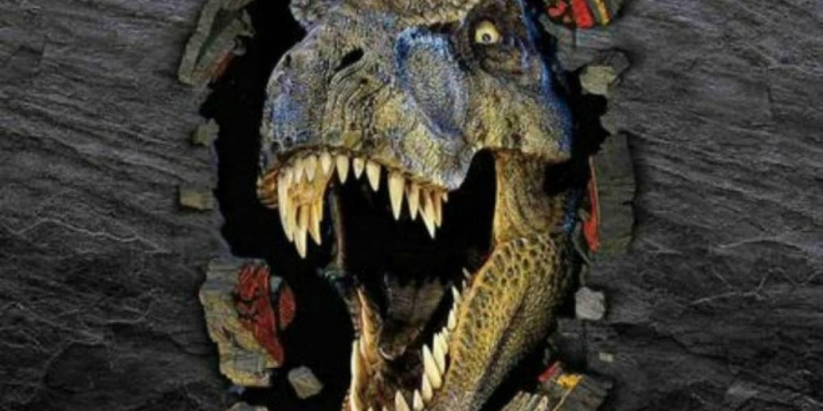 Esta abuelita perdió el control al ver Jurassic Park en realidad virtual