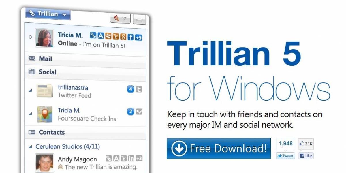 Trillian 5 Final para Windows llega después de un largo desarrollo