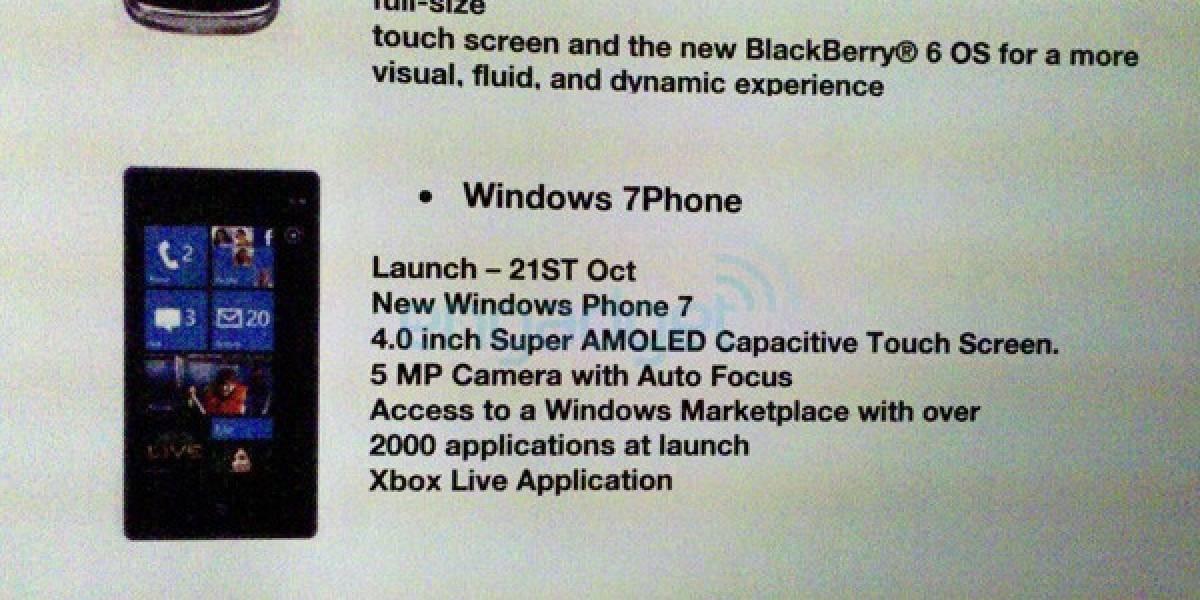 Windows Phone 7 estrenará dos mil aplicaciones en su lanzamiento