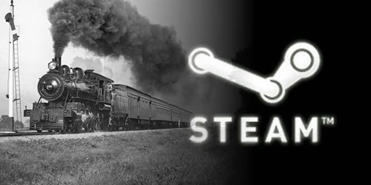 Steam en el tiempo, como un tren