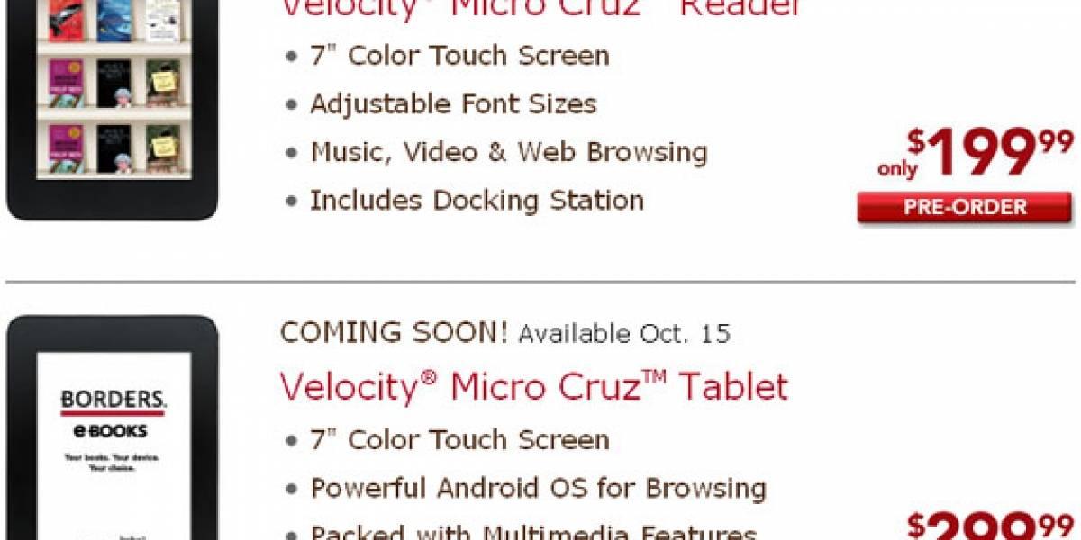 Precios y fechas del Velocity Micro Cruz Tablet y Reader